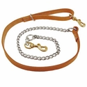 buy discount  OmniPet 5 ft. Leather Chain Tree Lead