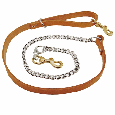 OmniPet 5 ft. Leather Chain Tree Lead