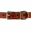buy discount  Leather Collar Front of Buckle Detail