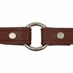 shop Leather Puppy Collar Outside Center Ring Detail