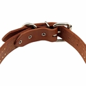 buy discount  Leather Studded Collar Buckle Inside Detail
