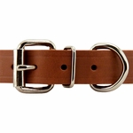 shop Leather Studded Collar Front of Buckle Detail
