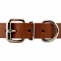 buy discount  Leather Studded Collar Front of Buckle Detail