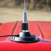 Magmount Base with Spring Whip Antenna Kit on Truck