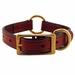 Mahogany K-9 Komfort 3/4 in. Center Ring Leather Collar
