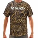 Realtree MAX 5 CAMO Gun Dog Supply Logo T-Shirt