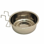shop Medium Stainless Steel Kennel Cup with Hanger -- approx 60 oz.