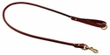 Mendota Rolled Leather Snap Lead -- 4 ft. x 3/4 in.