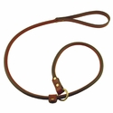 Mendota Slip Lead - Rolled Leather - 4 ft. x 3/4 in.