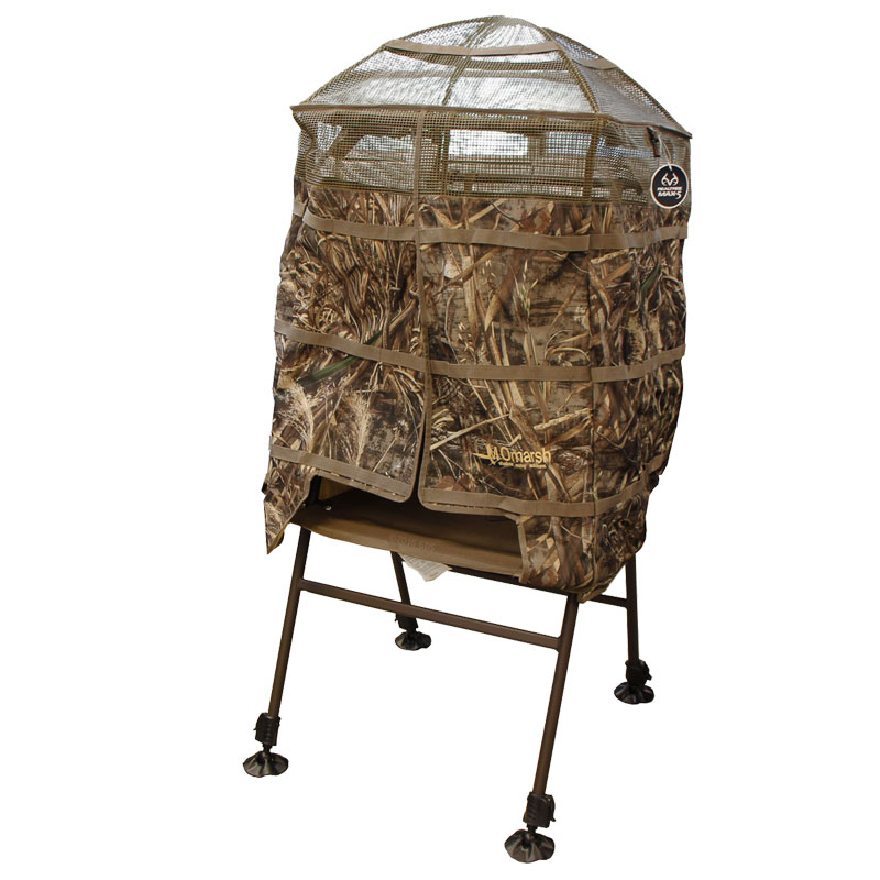 Exceptional MOmarsh InvisiChair Shallow Water Hunting Blind    MAX 5 Camo