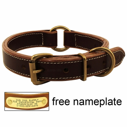 Mud River High Prairie Leather Center Ring Dog Collar
