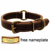 shop Mud River High Prairie Leather Center Ring Dog Collar