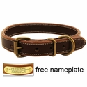 Mud River High Prairie Leather Standard Dog Collar