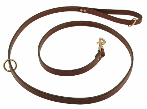 Omnipet Snap Lead - Leather - 6 ft. x 3/4 in.