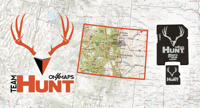 ONXMAPS Colorado PLAT Topo Map Micro SD - Map of sd