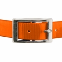 buy discount  ORANGE 1 in. Day Glow Center Ring Collar Buckle Front