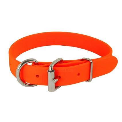 ORANGE K-9 Komfort 1 in. TufFlex Dee-End Collar
