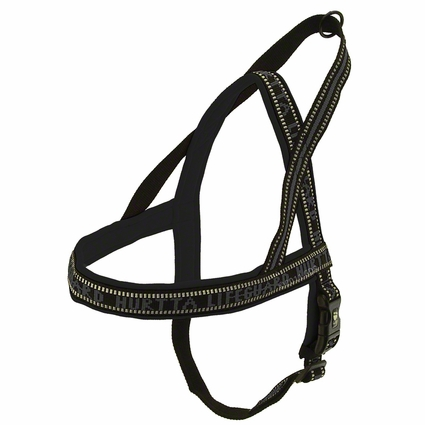 CLEARANCE -- BLACK Hurtta Standard Padded Reflective Dog Harness