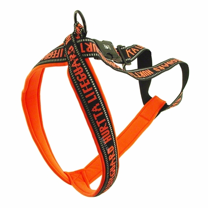 CLEARANCE -- ORANGE Hurtta Padded Reflective Y-Harness for Dogs