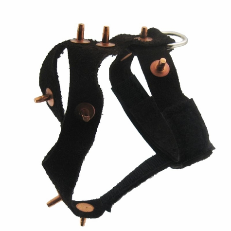 Pigeon Harness - Suede Spiked #7492