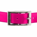 buy discount  PINK 1 in. Day Glow Center Ring Collar Buckle Front