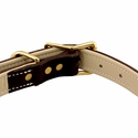 buy discount  Premium Deluxe Leather Collar Buckle Inside Detail