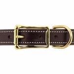 shop Premium Deluxe Leather Collar Front of Buckle Detail