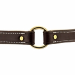 shop Premium Deluxe Leather Collar Outside Center Ring Detail