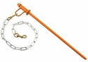 PRT Orange Hammertime Tie Out Stake with 2 ft. Chain