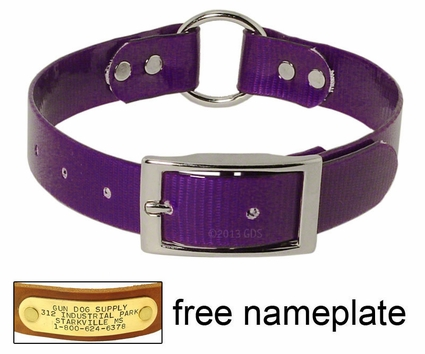 PURPLE 1 in. Day Glow Center Ring Collar