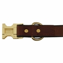 buy discount  Quick Release Leather Collar Back of Buckle Detail