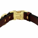 buy discount  Quick Release Leather Collar Buckle Inside Detail