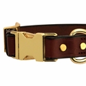 buy discount  Quick Release Leather Collar Front of Buckle Detail