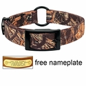 Realtree Max 4 Camo 2-ply Nylon Center Ring Dog Collar