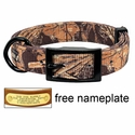 Realtree Max 4 Camo 2-ply Nylon D-End Dog Collar