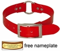 RED 1 in. Day Glow Center Ring Collar