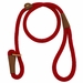 RED  British-Style Slip Lead by Mendota 4-Feet