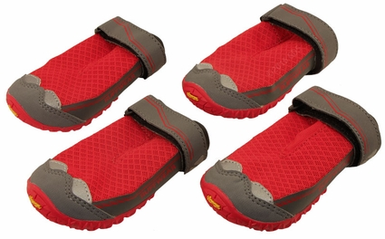 Red Grip Trex Dog Boots by Ruff Wear -- Set of 4