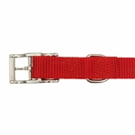 shop Red Nylon Dog Collar Buckle Inside Detail