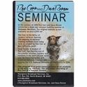 buy discount  Rex Carr and Dave Rorem Retriever Training Seminar 4 DVD Set back of case