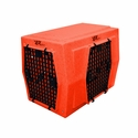 buy discount  Ruff Tough Kennels Intermediate Right-Side Entry Double Door Dog Crate Orange