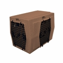 buy discount  Ruff Tough Kennels Intermediate Right-Side Entry Double Door Dog Crate Tan