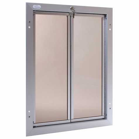 SATIN ALUMINUM X-Large Plexidor Door Mount Dog Door