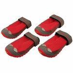 """shop SAVE 20%! -- """"Scratch & Dent"""" Red Grip Trex Dog Boots by Ruff Wear -- Set of 4"""