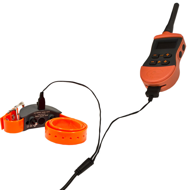 SD-875E Transmitter and Collar on Charger