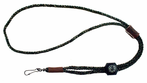 Single Whistle Camo Lanyard with Compass by Mendota