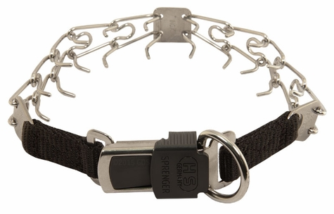 SMALL Herm Sprenger Stainless Steel Pinch Collar with Security Buckle #50037