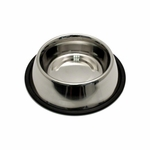 shop Small Stainless Steel No-Tip Dog Food & Water Bowl #8302 -- approx 32 oz.