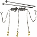 Stainless Steel Chain Gang 3-dog