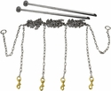 Stainless Steel Chain Gang 4-dog